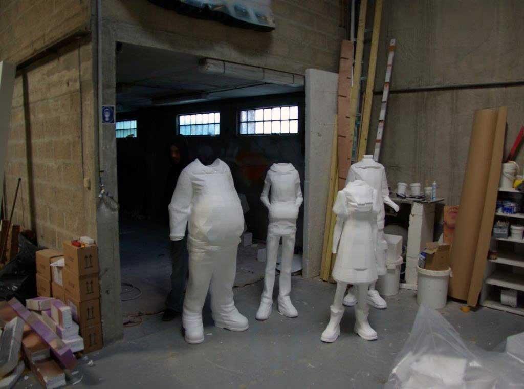 Ebauche de sculpture en découpe de polystyrène