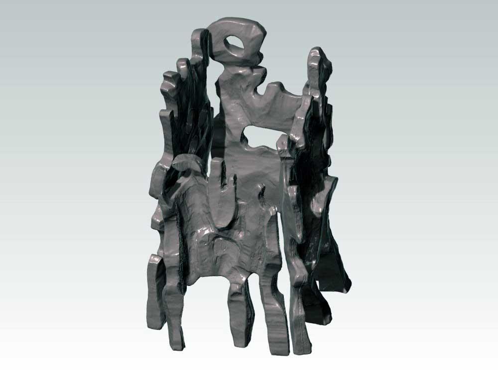 Numérisation 3D d'une sculpture Jean Dubuffet