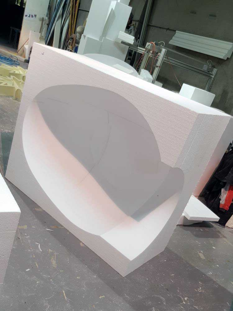 Moule en polystyrène