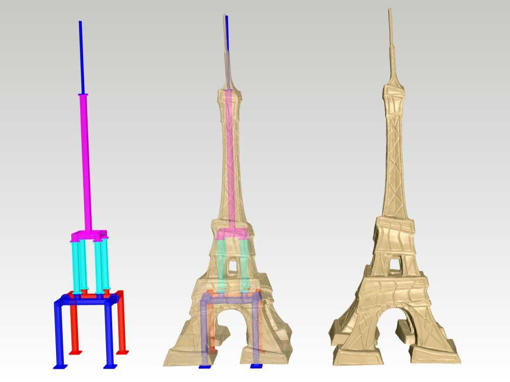 Tour Eiffel Alain Godon - Conception d'une structure métallique.