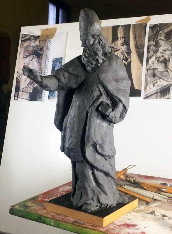 Maquette en plastiline de Saint-Augustin