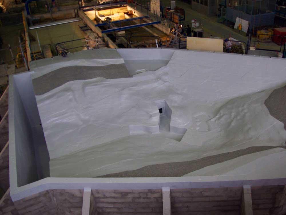 Stratification époxy sur polystyrène - barrage la Palisse
