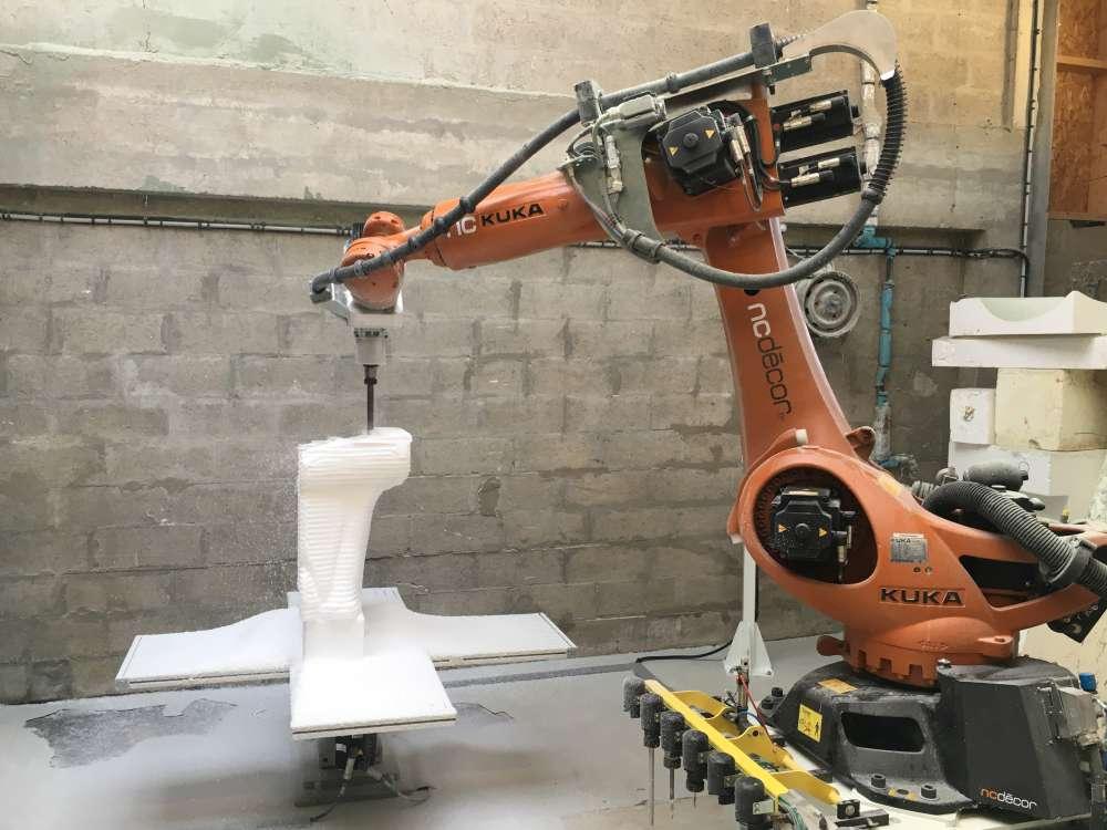 Notre robot d'usinage 7 axes.