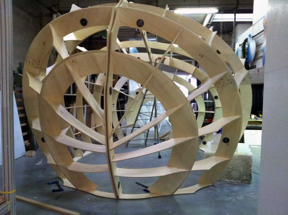 Usinage 2D d'une structure bois